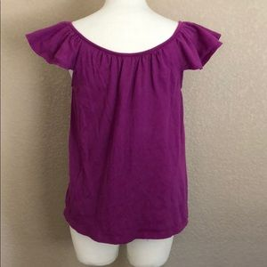 Old Navy Tops - Old Navy Purple Button Flutter-Sleeve Top